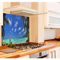 Seychelles Kitchen Glass Splashback