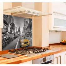 NY Yellow Taxi Kitchen Glass Splashback