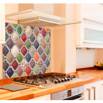 Spice Selection Kitchen Glass Splashback