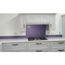 Metallic Steel Violet diy glass kitchen splashback