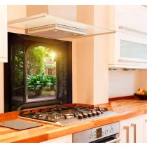 Window Escape Kitchen Glass Splashback
