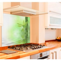 Zen Bamboo Kitchen Glass Splashback