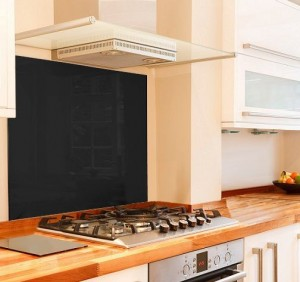 Black Glass Splashback 915mm x 750mm