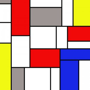 Mondrian2 diy kitchen glass splashback