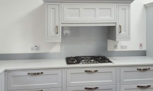 Metallic Silver diy glass kitchen splashback