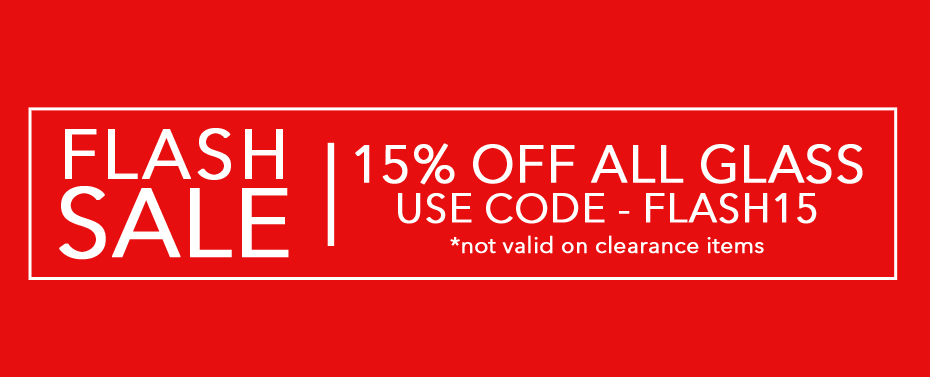 Flash Sale - Enter FLASH15 at checkout - not applicable to clearance items